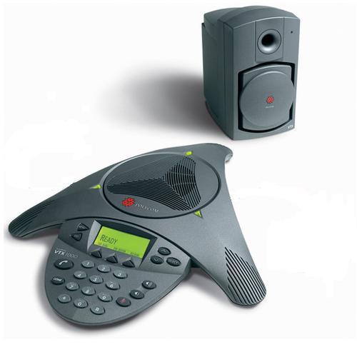 Polycom SoundStation VTX 1000 Conference Phone - Inclui Subwoofer e NÃO inclui microfones externos.