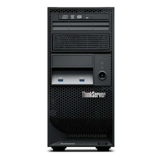 Servidor Lenovo TS140, Intel Xeon E3-1245 v3, 4GB ECC (1x4GB), 500GB SATA 6Gb/s, Garantia 3 anos.