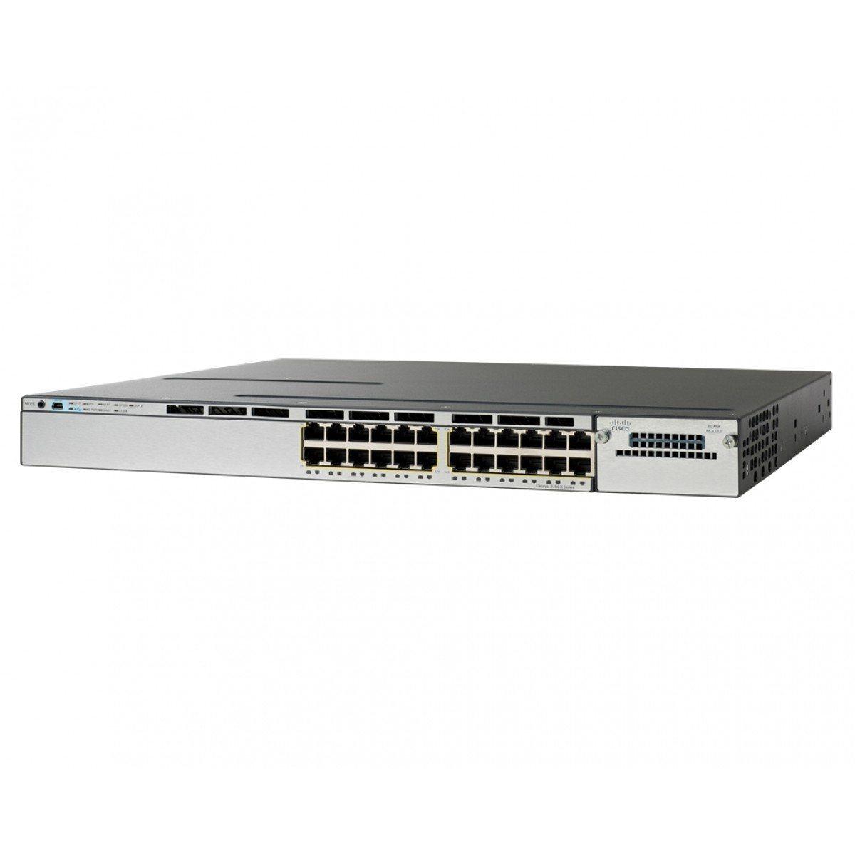 Switch Cisco Catalyst WS-C3750X-24P-L 24 PORTAS POE LAN BASE (SERVICO CON-SMBS-3750X2PL)