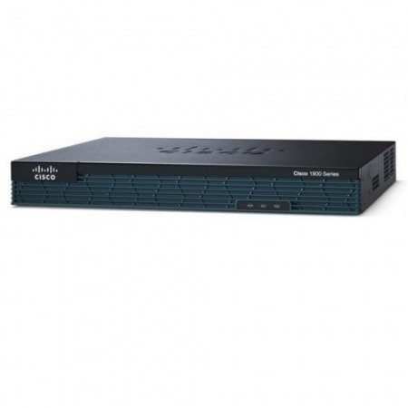 Roteador Cisco C1905 Router, 2 GE, HWIC-1T, CAB-SS-V35MT, 256F/256D, IPBase