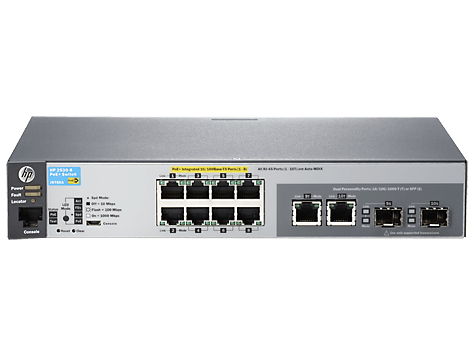 Switch HP 2530-8-PoE J9780A 8 Portas