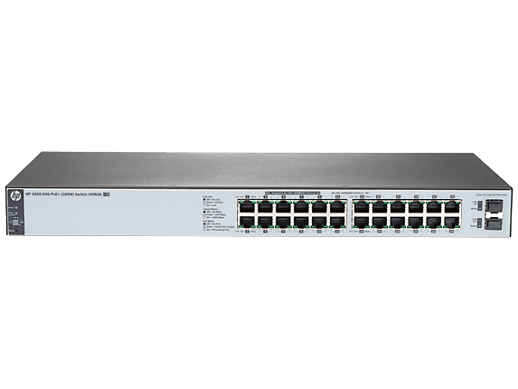 Switch HP J9983A HPE 1820-24G-PoE 24 portas Gigabit
