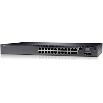 Switch Dell N2024P 24 PoE Portas 10/100/1000 Mbps RJ45 L2
