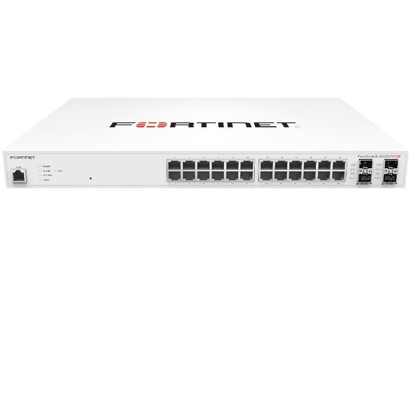 Switch Fortinet FortiSwitch-224D-POE L2 PoE Switch 20 x GE RJ45 ports 4 x shared media pairs FS-224D-POE