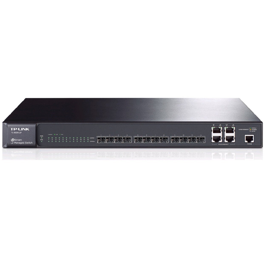 Switch TP Link JetStream™ 12-port Pure-Gigabit L2 12 Gigabit SFP slots including 4 Combo Gigabit RJ45 ports TL-SG5412F