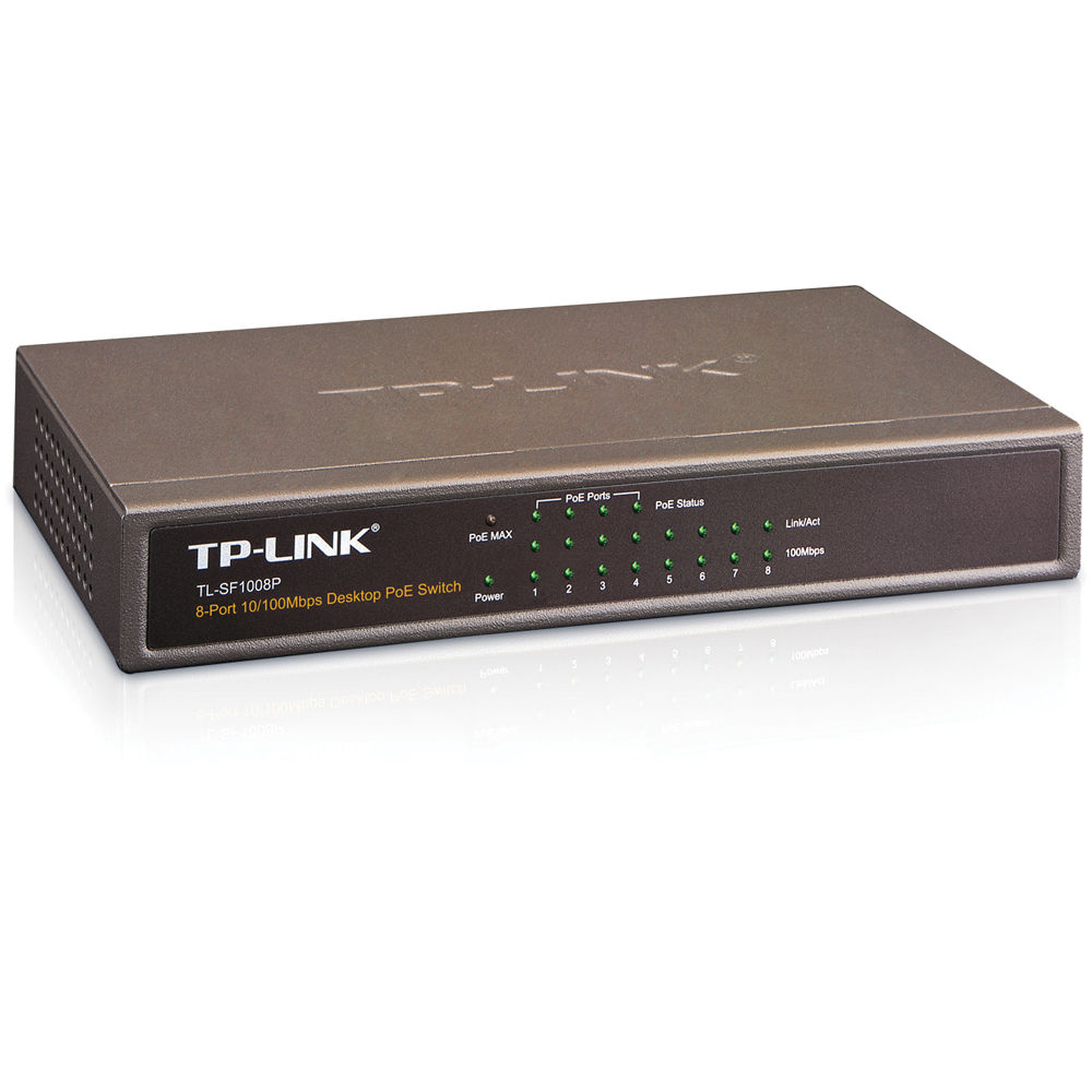 Switch TPLink 8-port 10/100Mbps Desktop PoE Switch RJ45 ports TL-SF1008P
