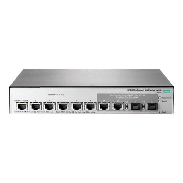 Switch HPE Aruba Office Connect 1850 6XGT and 2XGT/SPF+ 6 portas 10G Base-T RJ-45 + 2 portas combo 10G JL169A