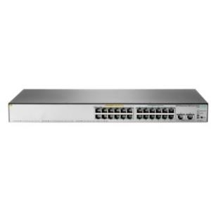 Switch HPE Aruba Office Connect 1850 24G 2XGT Poe+ 24 portas Gigabit PoE+ RJ-45 + 2 portas 10G JL172A