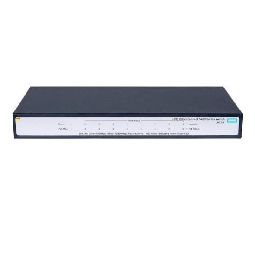Switch HPE 1420 8 portas gigabit PoE (64W) JH330A