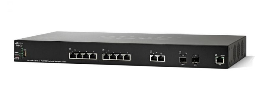 Cisco SG350XG-2F10 12-port 10GBase-T Stackable Switch
