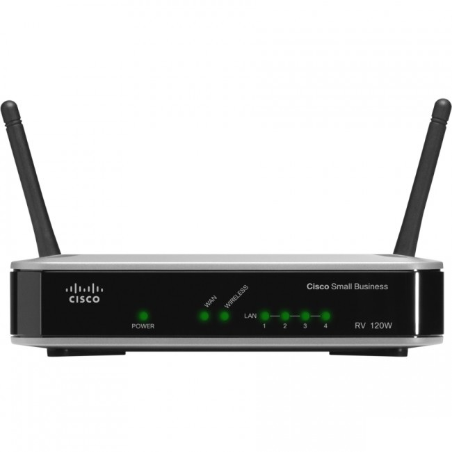 Roteador Cisco RV120W VPN Wireless N com 1 porta WAN + 4 portas LAN 10/100