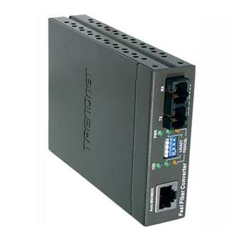Conversor Trendnet de 10/100Base-TX to 100Base-FX Single Mode Fiber Converter (30KM)